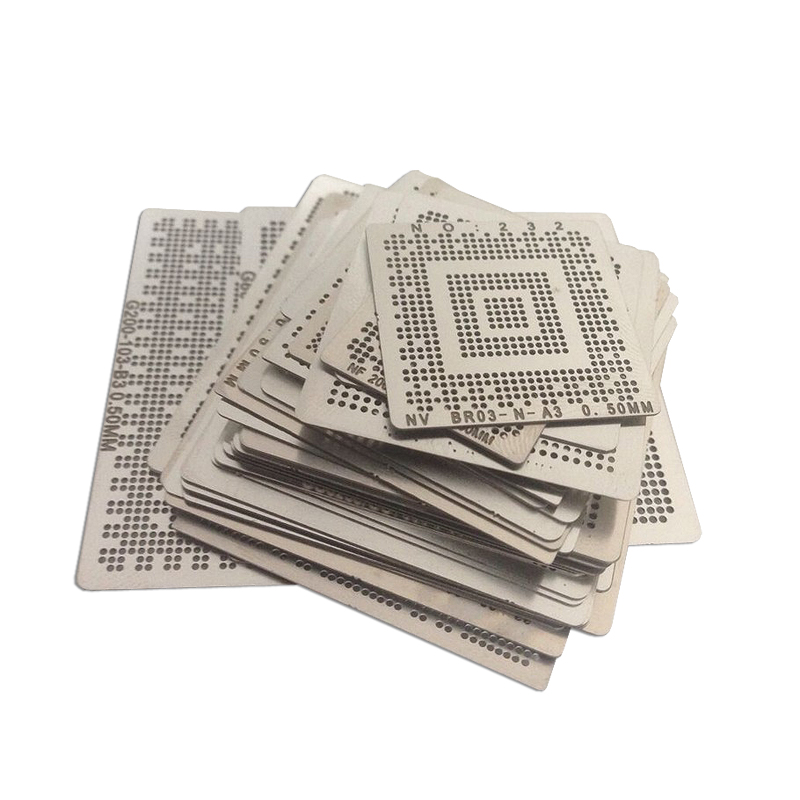 50pcs/lot Direct Heat Bga Reballing Stencil Tample Kit For Laptop Intel Chip