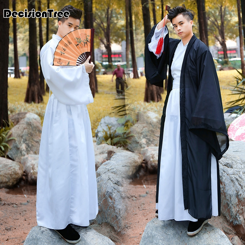 2020 Hanfu Men Cosplay Hanfu Black Hanfu Dalam Tv Hanfu Traditional Chinese Male China Solid Classic Chinese Song Ming Dynasty
