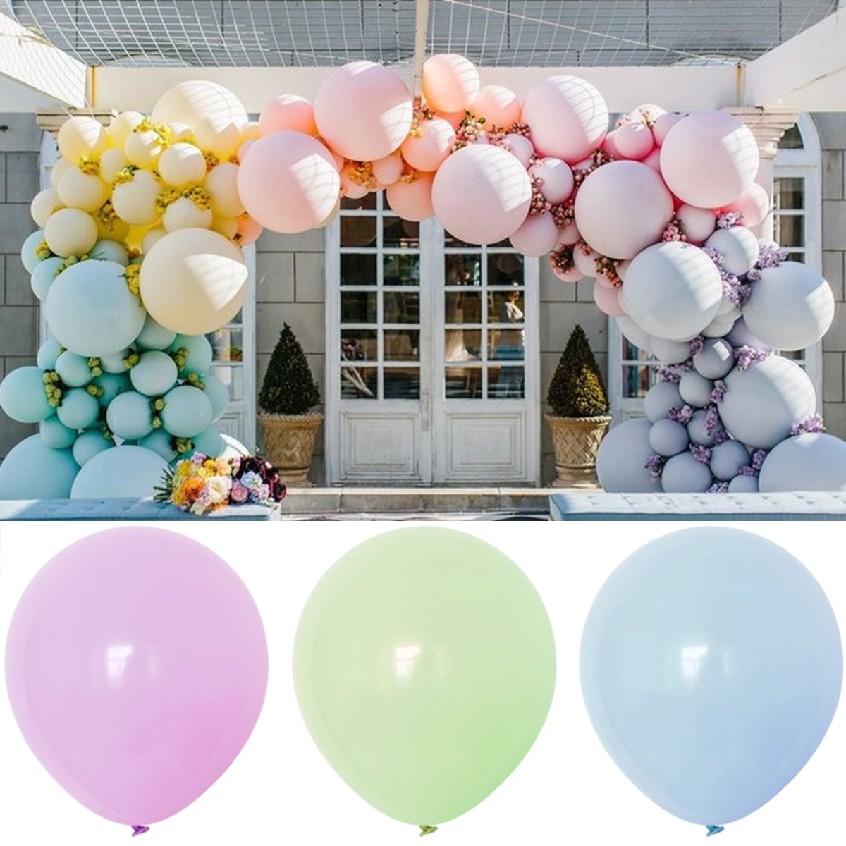 100pcs 10inch Mixed Round Balloons Macaron Candy Colored Latex Balloon Birthday Wedding Engagement Festival Family Party Decor