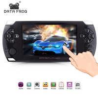 Os jogadores de jogo handheld com 4.3 polegadas hd jogo de tela 32bit consolas de jogo portáteis suport ps1 gba copiam o arquivo do jogo com 8 gb ram