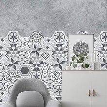 10 шт/компл Шестигранная керамическая плитка наклейки домашние