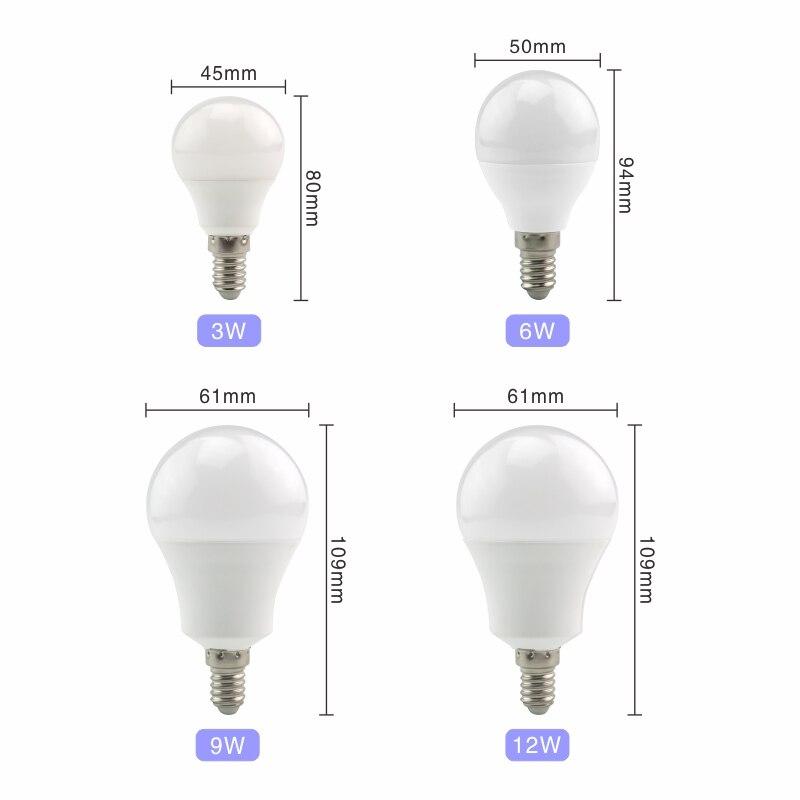 4PCS LED Lamp Light Bulbs E27 E14 3W 9W 12W 15W 18W 24W 220V LED Bulb High Brightness Lampada For Home Bombillas Warm Cold White 2