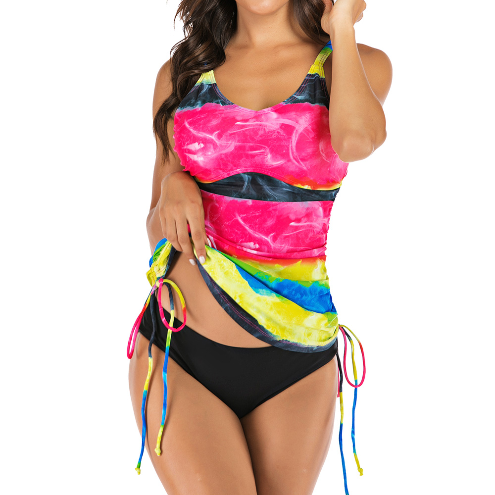 Swimsuit Women Two Piece Printed Swimwear 2019 Straped Bathing Suit Plus Size May String Beachwear XXL