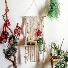 北欧タペストリーラック手織ボヘミアン壁掛けホームインテリアキッズルームの装飾マクラメ綿織りタペストリー