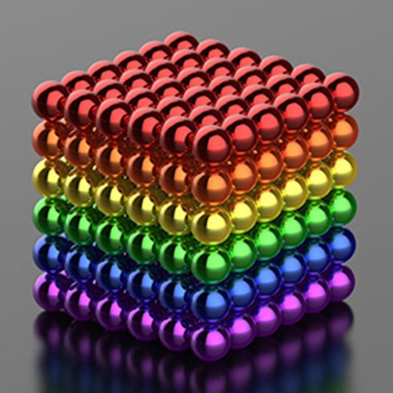 New Style 216pcs 3mm Magic Magnet Magnetic DIY D3 Balls Sphere Neo Neodymium Cube Puzzle