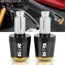 Motorcycle Accessories CNC 22MM Handlebar Grips Handle Bar Cap End Plugs For SUZUKI GSR 750 600 400 LOGO