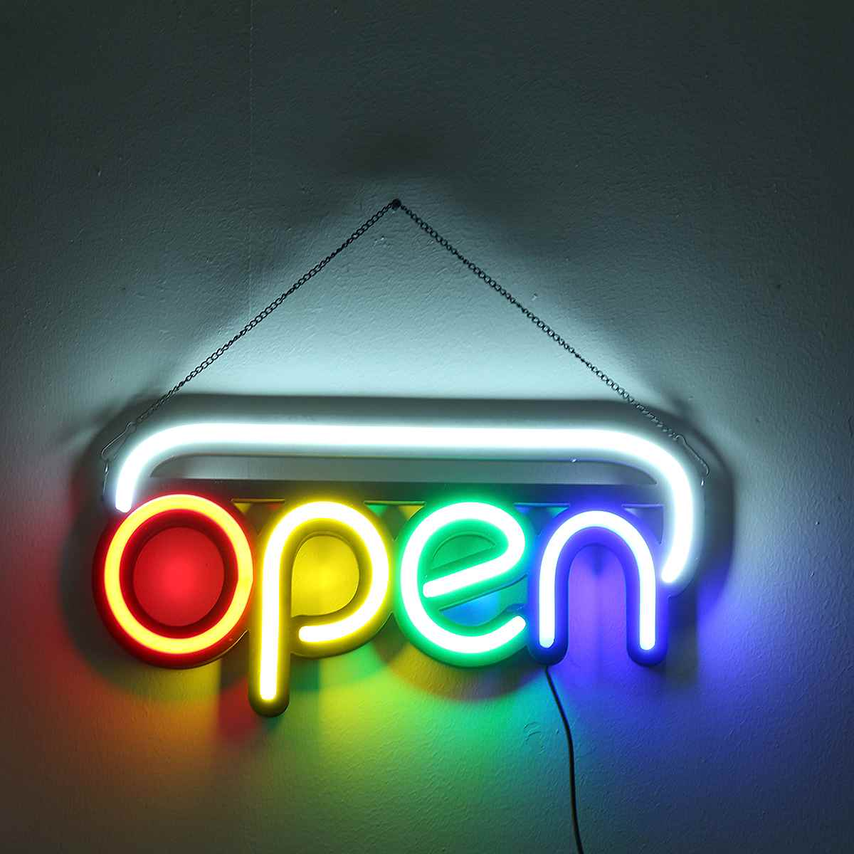LED Lights Coffee OPEN BAR Neon Sign Light Beer Pub Party LED Lamp Shop Wall Decor 110-240V image