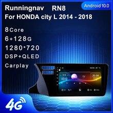 4G LTE Android 10.1 Honda City 2014 2015 2016 2017 sol el sürüş multimedya Stereo araç DVD oynatıcı oynatıcı navigasyon GPS radyo