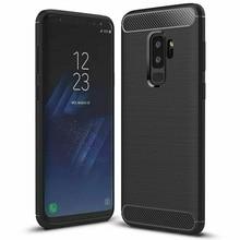 For Samsung Galaxy S9 S8 S10 A10 A20e A40 A50 Coque Housse Etui Effet Carbone Noir