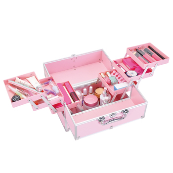 Professional Large Capacity Cosmetic Case Portable Nail Makeup Embroidery Toolbox Makeup Artist Beginner Cosmetic Storage Box Y