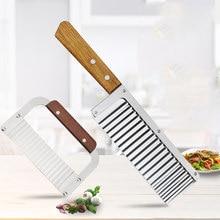 Francês simples onda faca criativa multifuncional aço inoxidável corte de frutas e legumes artefato cozinha em casa ferramenta