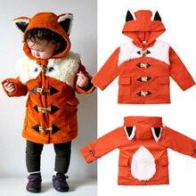 Winter 3D Fox Ears Hooded Jacket