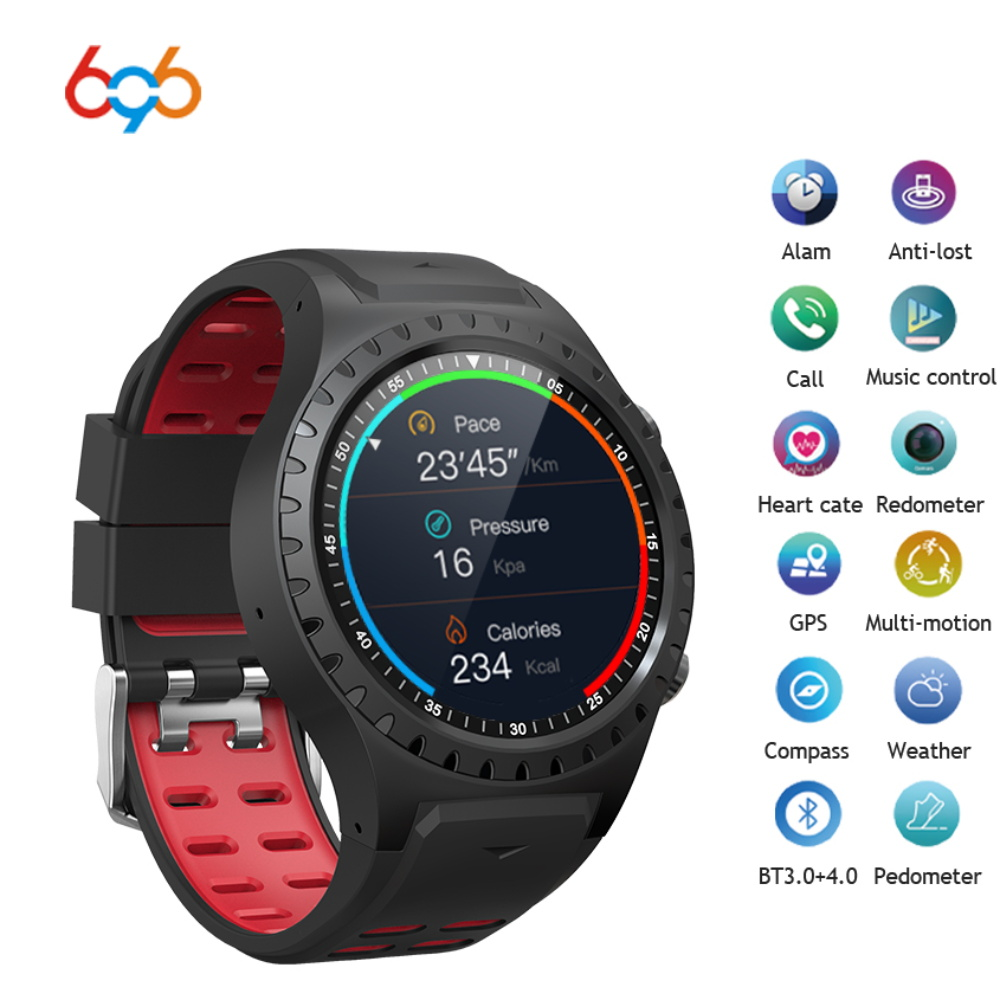 696 M1 new design hot selling smart watch colorful display screen GPS build in compatible for iphone sumsang phones