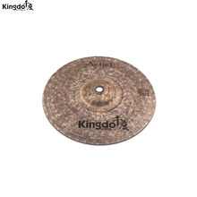 Kingdo Artist Dark series B20 100% handmade cymbal 10splash cymbal for drums set arborea cymbal gravity 14hi hat cymbal for drums