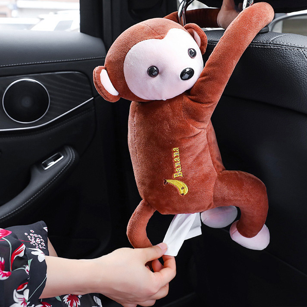 Car Tissue Box Monkey Tissue Holder Car Paper Box Auto Napkin Holder Cartoon Tissue Box Creative Auto Interna Accessories