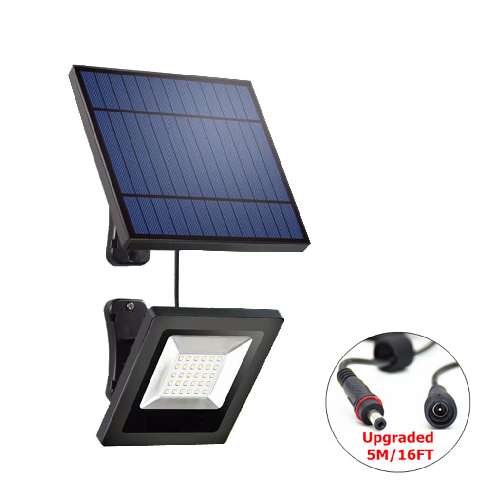 Garden Solar Flood Light 30LED Solar Panel With Cable Floodlight Wall Lamp With Solar Battery For Luz Solar Lighting