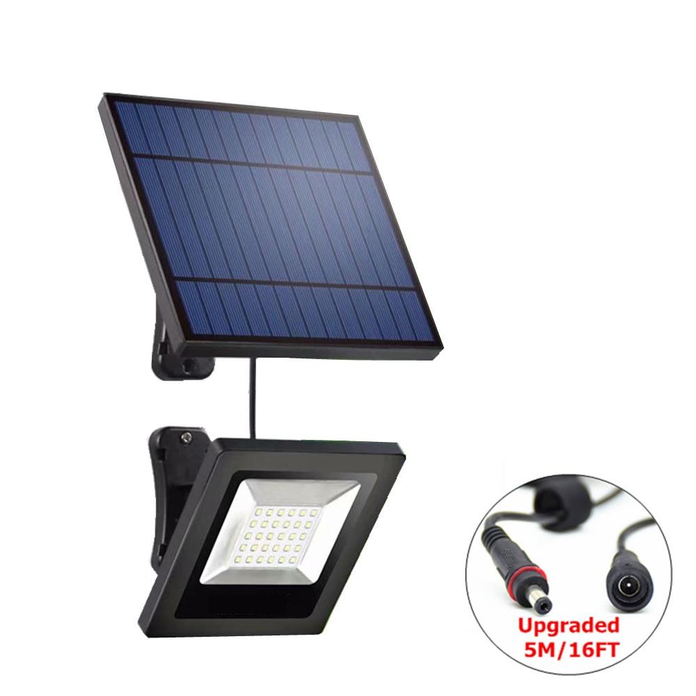 Garden Solar Flood Light 30LED Solar Panel With Cable Floodlight Wall Lamp With Solar Battery For Luz Solar Lighting