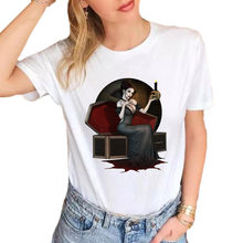 Vampire Queen T-Shirt Women Plus Size Cotton Casual White Women Tops Tees S1834(China)