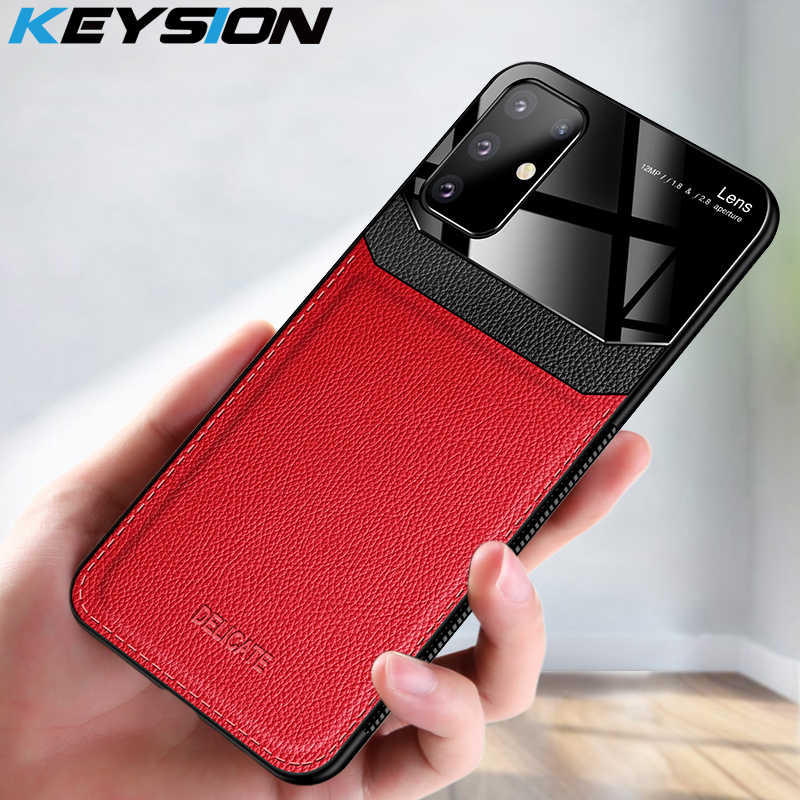 Keysion Shockproof Case untuk Samsung A51 A71 A70 A50 A30S Kulit Kaca Ponsel Cover untuk Galaxy S20 Ultra S10 Lite s9 Catatan 10 Plus