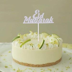 Image 3 - 1/10 adet altın ay Eid Mubarak kek Topper ramazan parti dekor fincan kek bayrağı İslam müslüman EID al fitr Eid parti malzemeleri
