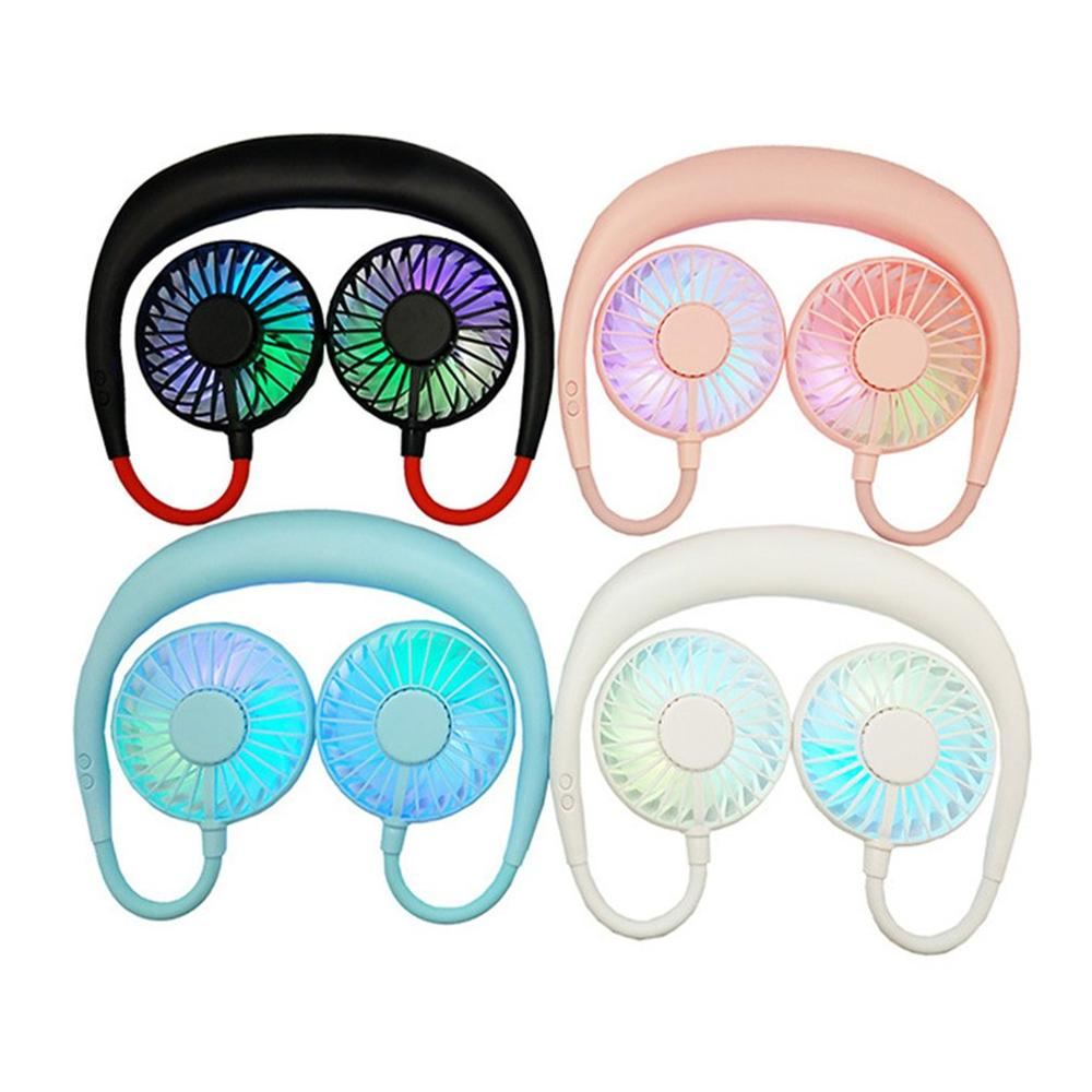 Sports Fan Neck Ring Fan Hanging Neck Lazy Aromatherapy Lantern Outdoor Mini Portable Practical Durable Fans