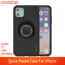 Waist Belt Clip Bicycle Phone Holder with Quick Mount Case for iphone 12 pro Max MINI SE 2020Bike Mount Black