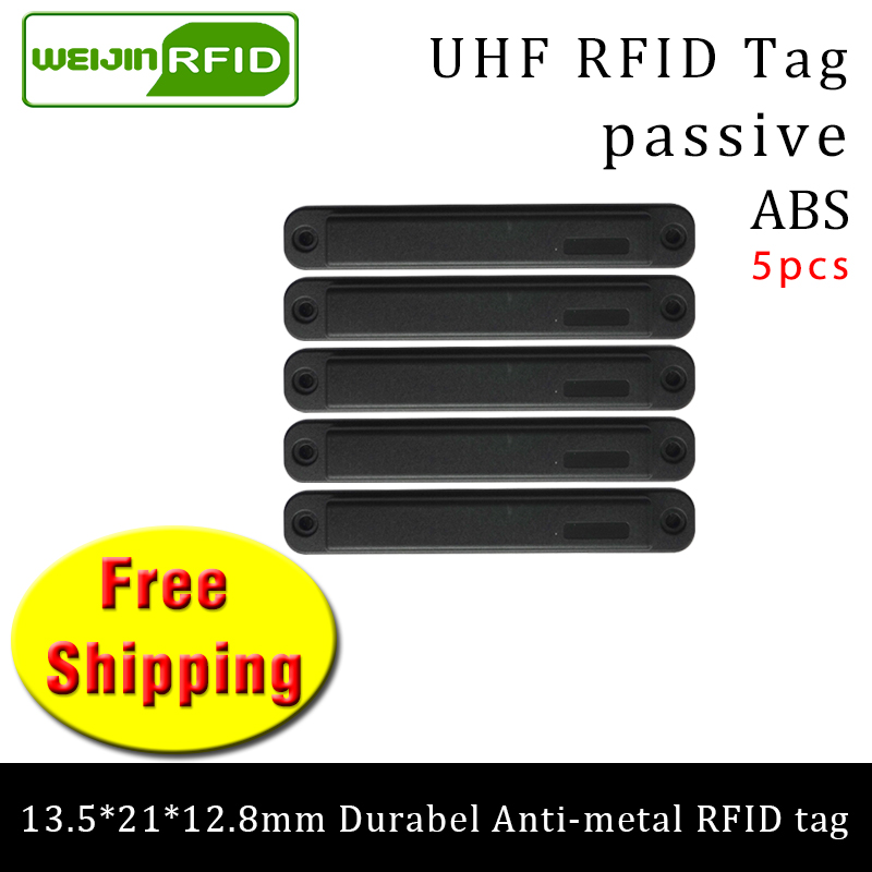 UHF RFID Metal Tag 915mhz 868mhz EPC H3 135*21*12.8mm 5pcs Free Shipping Durable ABS Storing Cage Smart Card Passive RFID Tags