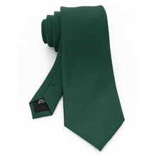 JEMYGINS Design Classic Mens Tie 8cm silk Jacquard Necktie Solid Green Red Black Ties For Man Business Wedding Party Gift