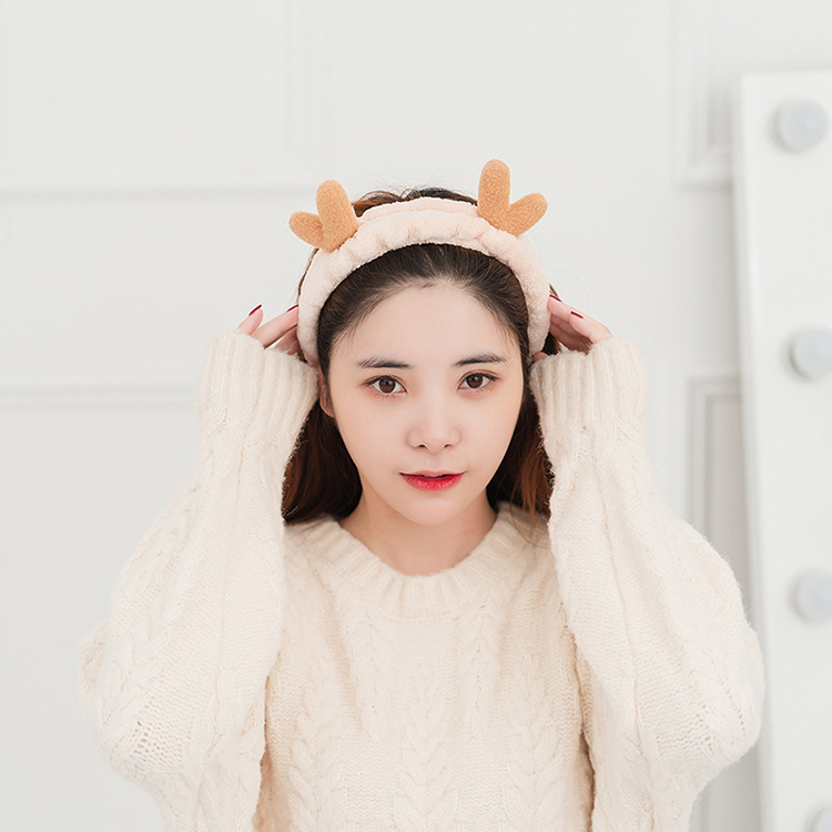 Woman Lovely Rabbit Headband Bow Elastic Hairband Wash Face Turban Girls Cute Hair Holders Ladies Band Hair Accessories Bandeau