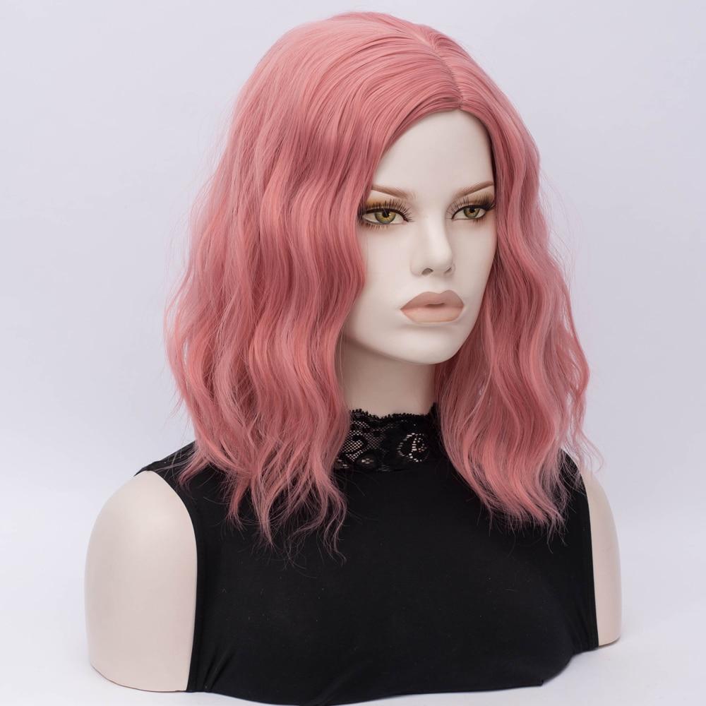 preto branco azul rosa cinza peruca parte central