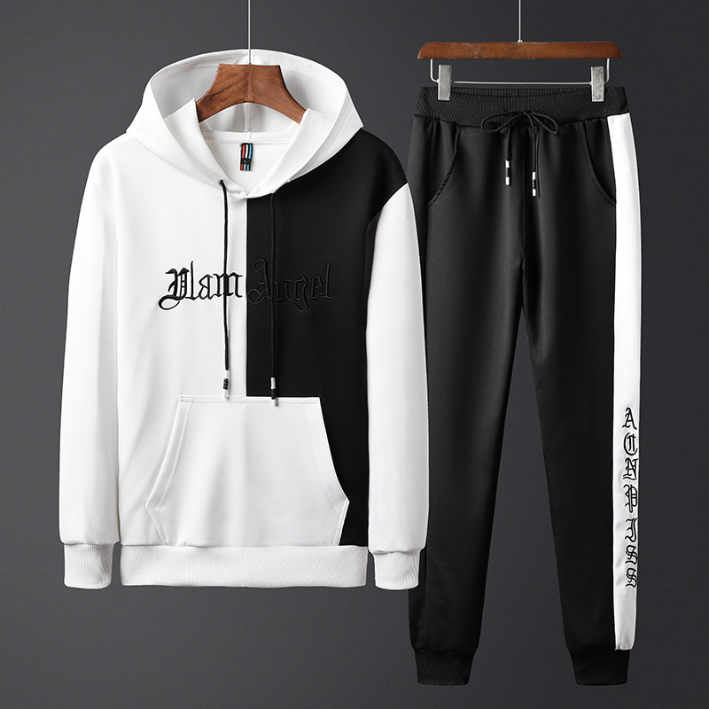 MEN'S Casual Suit Autumn Clothing New Style Fashion Hoodie Ankle Banded Pants Korean-style Hooded Long Sleeve Sports Casual