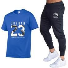 Calça de verão quente com gola redonda camisa terno ocasional marca de fitness calça de corrida T-shirt do hip-hop da moda sportswear x-mas
