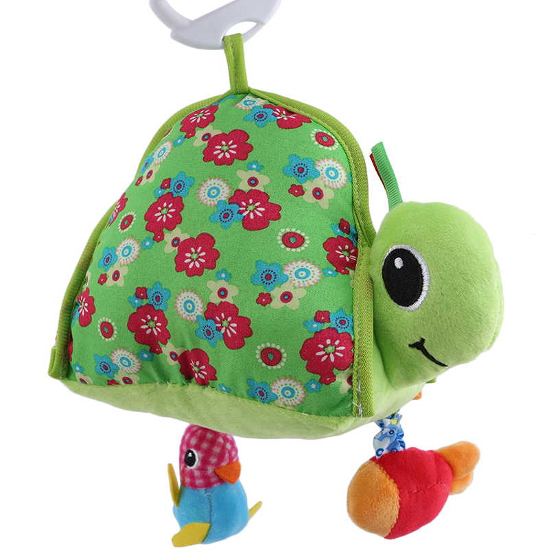 Infant Toy Stuffed Plush Baby Rattles Toddler Car Seat Hanging Tortoise Mirror Stroller Newborn Toys