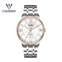 CADISEN Men Mechanical Watch Miyota 8215 Movement Automatic Luminous Waterproof Stainless Steel Male Clock Relogio Masculino muhsein watch fully automatic mechanical watch male luminous waterproof stainless steel genuine leather watchband mens watch