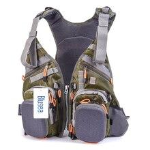 Blusea рыболовный жилет, универсальный размер, многофункциональный регулируемый сетчатый жилет с мутильным карманом, жилет для рыбалки на открытом воздухе