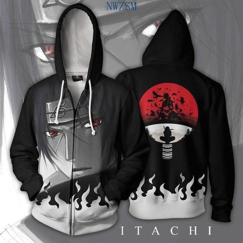 Anime Naruto Hooded Cosplay Zipper Hoodies Sweatshirt Jacket Adult child Coat Naruto Clothes Costume Halloween