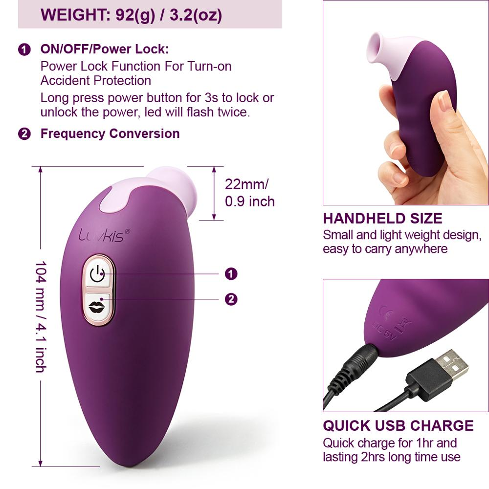 Image 5 - Luvkis 7 Speed Tongue Licking Vibrator Oral Clitoris Sex Vibrator For Female Nipple Clit Sucker Couple Massager  Adult Sex Toy-in Vibrators from Beauty & Health