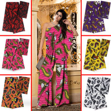 2019  Ankara printing modal satin fabric 4 yards + fashion digital chiffon 2 for dresses head tie AYC-39