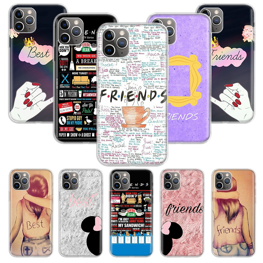 iends <font><b>BFF</b></font> <font><b>Case</b></font> for Apple <font><b>iphone</b></font> 11 Pro XS Max XR X 7 8 6 6S Plus 5 5S <font><b>SE</b></font> 10 Ten Gift Silicone Phone Cover Coque image