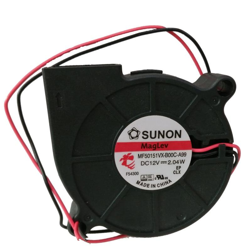 MF5015VX-B00C-A99 Sunon 3D Printer Blower Fan 5015 12V  0.17A Magnetic Suspension Bearing Fan Centrifugal DC Cooling Turbo Fan