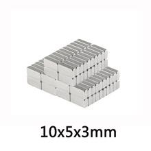 50/100/200 stücke 10x5x3mm Quader Block Magneten 10mmX5mm Neodym Magnet 10x5x3mm Permanent NdFeB Starken Magneten 10*5*3 N35