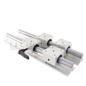 Image 4 - 2 SBR20 линейные направляющие с 4 слайдерами SBR20UU 200 1000 мм 20 мм линейный направляющий шарикоподшипник сиденья фрезерный станок с ЧПУ