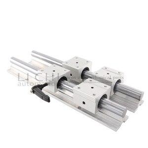 Image 4 - 2 SBR20 Linear Guide Rails 4 SBR20UU Sliders 200 1000มม.20มม.คู่มือเชิงเส้นแบริ่งบอลที่นั่งเครื่องกัดCNC