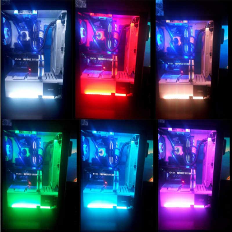 Ultrabajo precio SATA interfaz 2835 RGB LED tira monocromática 60 LEDs/m monocromática cinta de diodo Kit completo para funda de ordenador PC