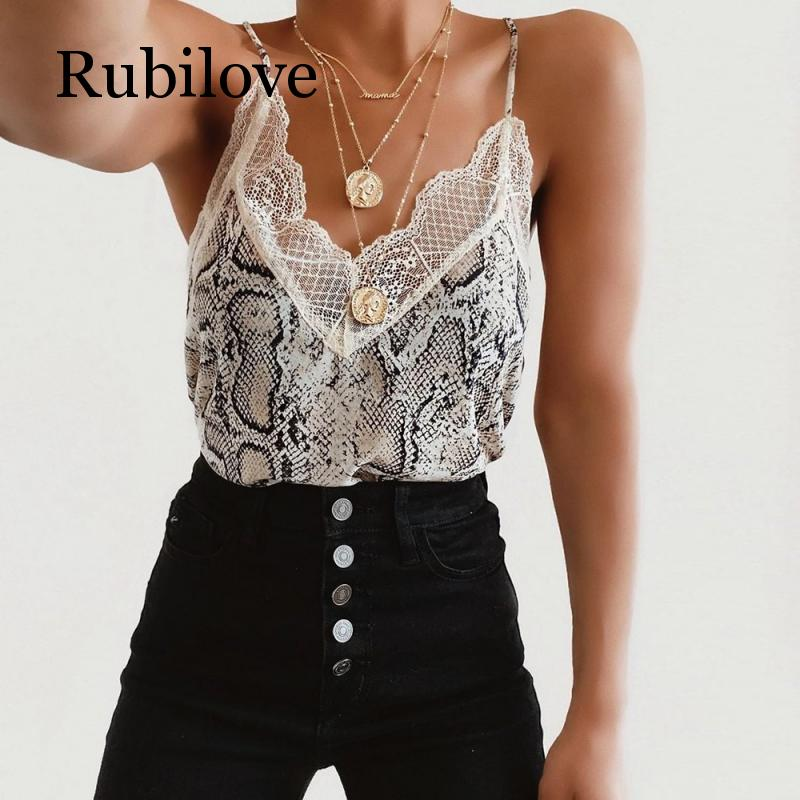 Rubilove Womens Blouse Tee Lace T shirts Vest Summer 2019 Hot Sale Sexy Fashion Camisole Top Sleeveless T-Shirt Tank