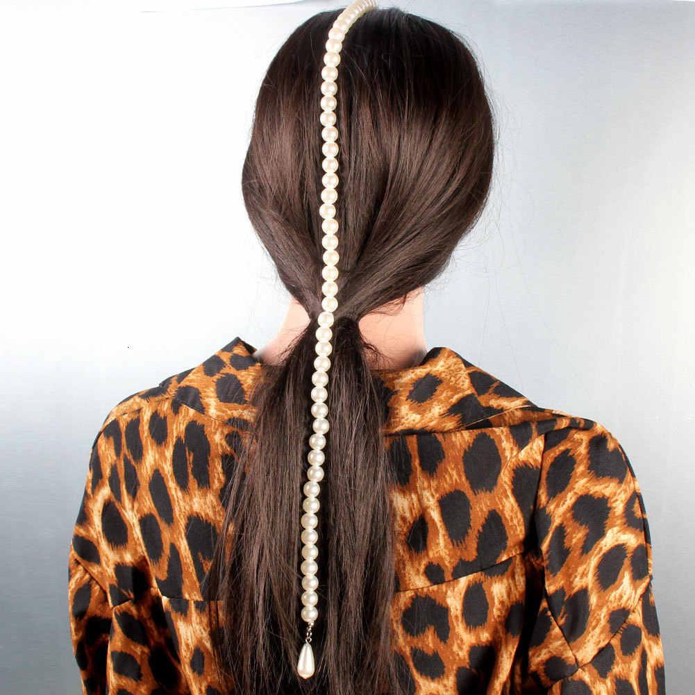 Jouval mode perle perles épingles à cheveux mariée gland longue chaîne cheveux peigne pince pour femmes cheveux bijoux chapeaux accessoires de mariage