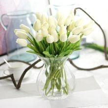 1/2 pçs flores artificiais jardim tulipas verdadeiro toque flores tulp buquê mariage para festa de casamento em casa decorações falso flor