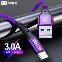 Gtwin usb tipo c cabo para xiaomi redmi nota 7 3a cabo de dados de carregamento rápido para samsung huawei usb c cabo do telefone móvel carregador