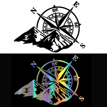 Car Laser Sticker Mountain Compass Fashion Auto Body Styling Decoration Decal Colorful Rear Windshield Stickers