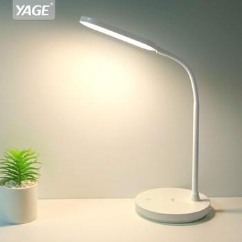 Led Tisch Lampe 1200mAh Rechargeacle Schreibtisch Lampe Stufenlose Dimmen Touch Schreibtisch Licht Schlauch Tisch Licht USB Nacht Lampe Keine flash YAGE